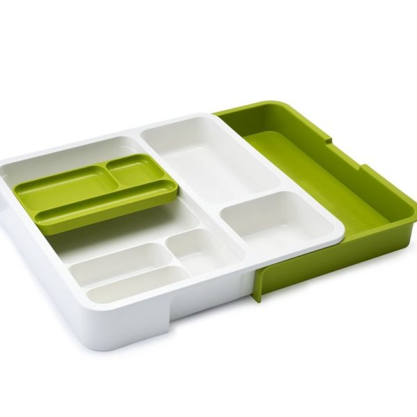 Joseph Joseph Drawer Store Expandable Drawer Organizer, Green